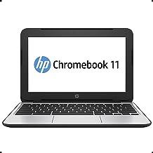 HP Chromebook 11 G4 11.6 Inch Laptop (Intel N2840 Dual-Core, 2GB RAM, 16GB Flash SSD, Chrome OS), Black (Renewed)