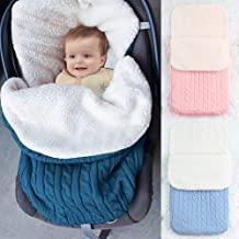 Winmany Newborn Baby Swaddle Blanket Thick Warm Fleece Sleeping Bag Stroller Sack Wrap (blue2)