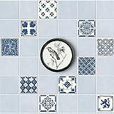 Shackcom adesivi piastrelle cucina,Tile Stickers In PVC Impermeabile Autoadesivo Adesivi Murali Decorazione per La Stanza Da Bagno e Cucina Wall Stickers Fai da Te Set di 20 Pezzi 15x15cm DT034