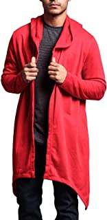Victorious Men's Long Length Cloak Cardigan Hoodie