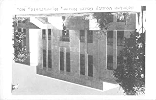 Marshfield Missouri Webster Court House Real Photo Antique Postcard K38713