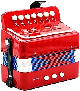 Andoer® Mini Pequeño Acordeón 7-Key 2 Bass Instrumento