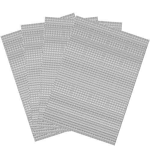 BETOY 4PCS Rete Metallica 304Acciaio Inox Maglia del Roditore Foglio della Maglia Tessuta 1 mm Foro 0.60mm Filo A5 150x210mm Zanzariera Retinata per Precludere Roditore Insetti Filtrazione Griglia