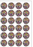 Oblatenpapier, vorgeschnitten, olympische Nationalflaggen, essbar, 24 Stück