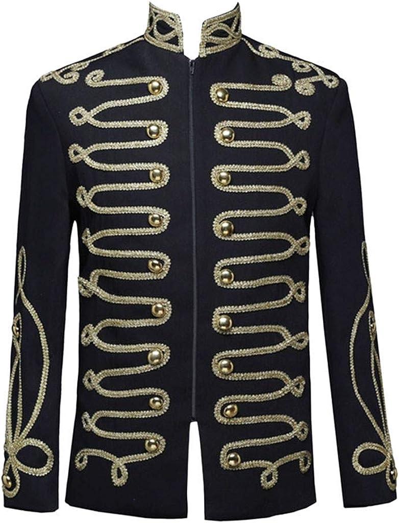 F_Gotal 2019 Mens Vintage Court Dress Costumes Military Uniforms Performances Top Clothing Coat Shirt European Style