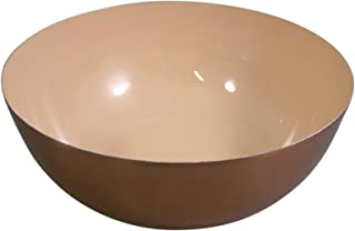 Pink Serving Bowl - Copper Plated Decorative Bowl, 8 Inch