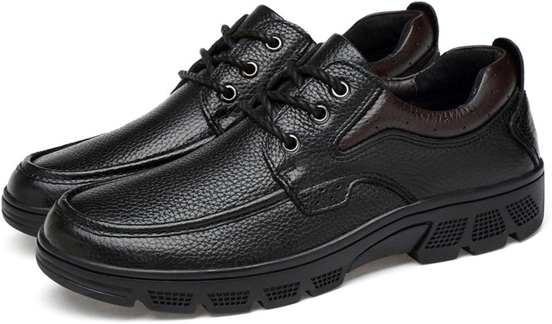 Dig dog bone Men's Fashion Oxford Casual Soft Aseismatic Light Belt Outsole Formal shoes(Warm Velvet Optional)