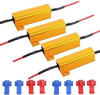 Defvnsy - Paquete de 4 - Decodificadores Canbus Anti-Intermitente de Resistencia de Carga de 6 ohmios 50 W para Bombilla LED - para Luces LED de señal de Giro o Luces LED para matrículas o DRL