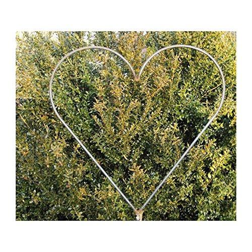 RDI Metall Rankgitter Herzstecker Herz auf Stab, Gartenstecker Rostiges Metall, Gartenfigur, Metall Figur, Gartendeko Rankhilfe Pflanzenranke