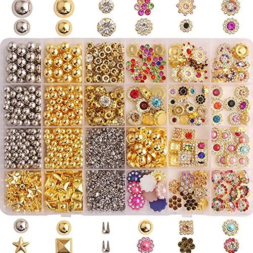 MMYAN Pulsera que hace el grano del agujero del metal de las cuentas de oro de plata de las cuentas espaciadoras de la flor para la fabricación de la joyería Accesorios Pulsera