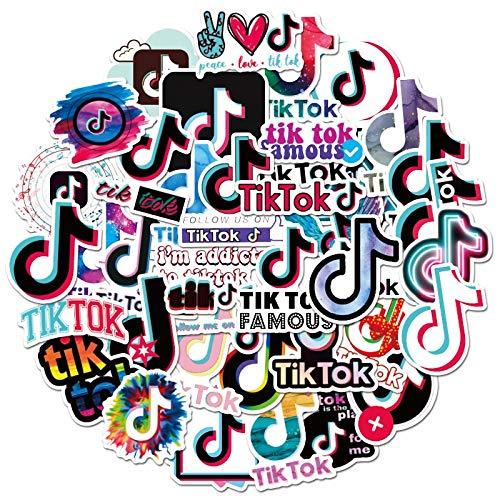 Tiktok Logo Stickers for Phone Laptop Luggage Scrapbooking Graffiti Diary Label Stationery Sticker Decals 100 Pcs