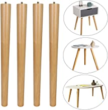 MEETWARM 16 inch Table Legs Wood Furniture Legs Tapered Round for Coffee End Tables Side..
