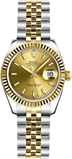 Rolex Lady-Datejust 26 179173 Champagne Dial on Jubilee Womens Watch