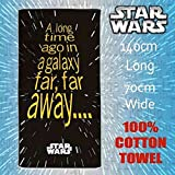Official Merchandise Produit Officiel Star Wars de Bain/Plage/Pique-Nique/Gym Piscine/Enfants 100% Coton Serviette 140 cm x 70 cm
