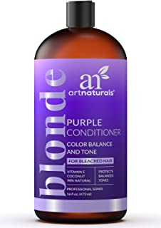 ArtNaturals Purple Conditioner for Blonde Hair – (16 Fl Oz / 473ml) – Protects, Balances and Tones – Bleached, Color Treated and Silver Hair - Sulfate Free.