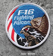 F16 Fighting Falcon Military Patch Fabric Embroidered Badges Patch Tactical Stickers for Clothes with Hook & Loop