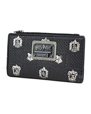 Loungefly x Harry Potter Hogwarts Houses Crests Bifold Wallet