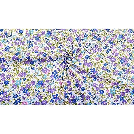 Tela flores por metros. 1 unidad es 0.50 m. x 1.60m.cortinas ...