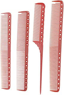 Anself 4 Pcs Professional Hair Cutting Comb Set Salon Hair Styling Measure Combs Anti-Static Hairdressing Comb