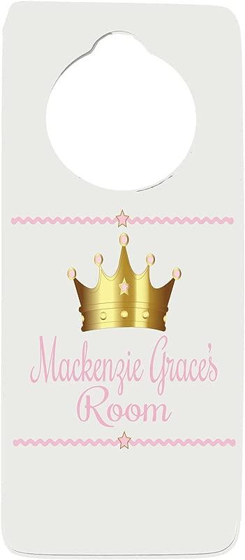 Personalized Princess Crown Door Hanger