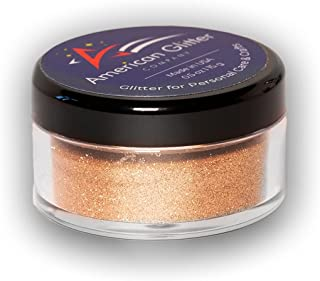 American Glitter Company Fine Cosmetic Grade Loose Glitter Powder - Nail Art, Face, Body Makeup - Made in USA - Bronze, ne...