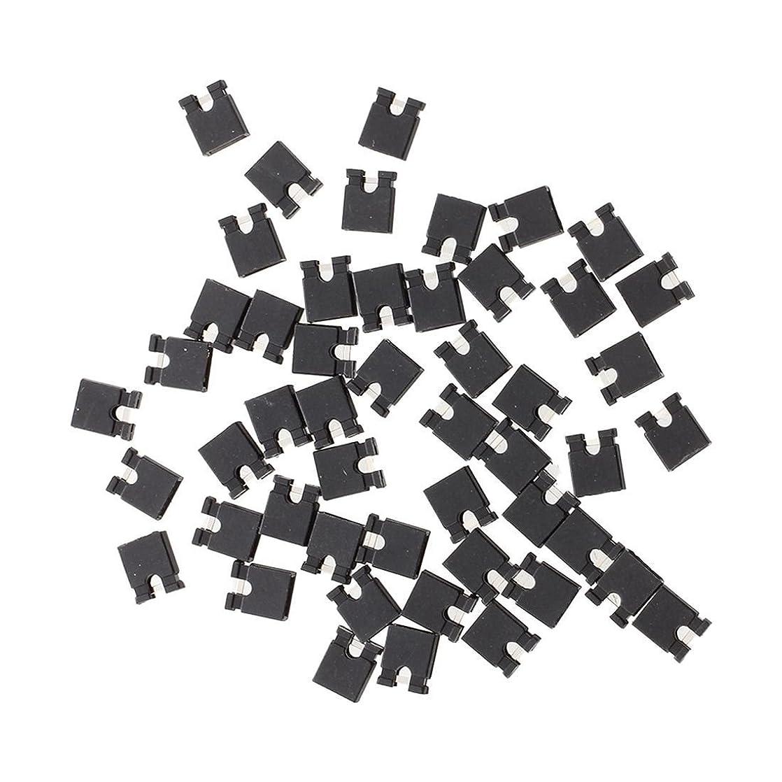 致死ソートたくさんのSODIAL(R)黒いジャンパー キャップX50  2.54mm