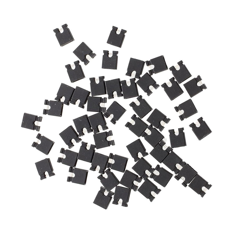 選択する大佐散逸SODIAL(R)黒いジャンパー キャップX50  2.54mm
