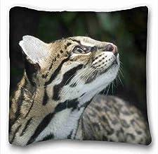 Suave funda de almohada de carcasa (animales árbol naturaleza) cuerpo funda de almohada con cremallera tamaño de la funda 16