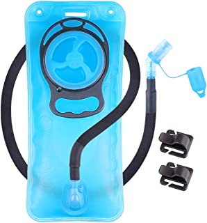 Hydration Bladder 2L Leakproof 2 Liter Water Reservoir, BPA Free Military Green Water Storage Bladder Bag with Insulated Tube, Hydration Backpack Replacement for Outdoor Hiking Camping Running Cycling