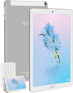 Tablet 10.1 Pulgadas YESTEL Android 8.1 Tablets con 3GB RAM & 32GB ROM y 4G LTE Dual SIM Call 5.0 MP + 8.0 MP HD la Cámara y 8000mAH-Plata