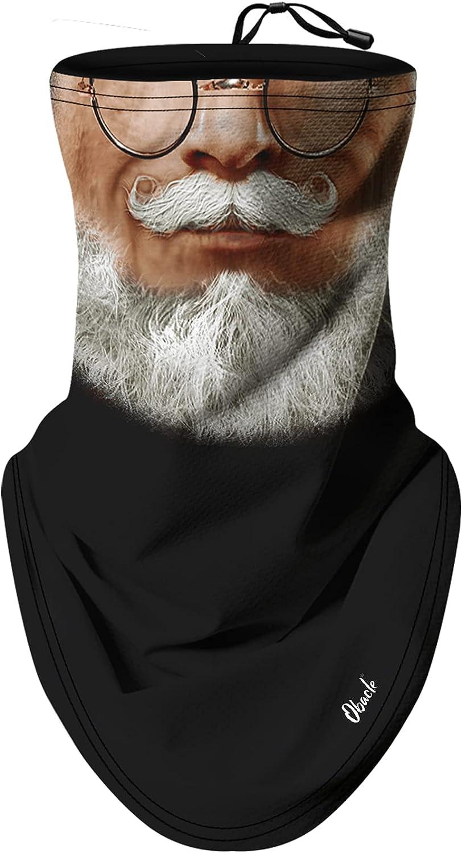 Obacle Neck Gaiter Face Mask Bandana Face Mask with Adjustable Drawstring for Men Women