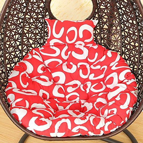 VIVOCFan ronde schommelstoel zitkussen, ei hangmat Nest opknoping mand kussen dikker Tatami verwijderbare cover stoel pad kussen alleen geen stoel