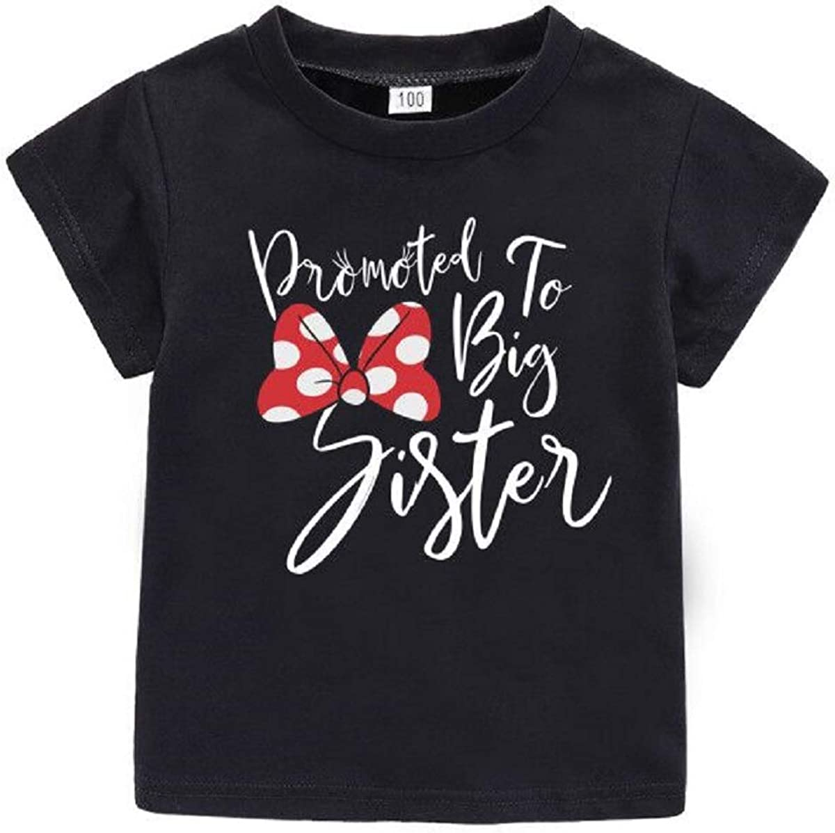 AMMENGBEI Toddler Girls Free shipping / New T-Shirt Promoted NEW Letters P Sister Big to