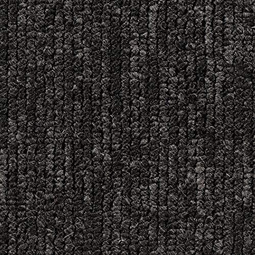 Schlingen-Teppichboden in Anthrazit | weiche & strapazierfähige Auslegeware | zugeschnittener Bodenbelag | Meterware in der Größe 125 x 400 cm | gemütlicher Teppich Auslegeware