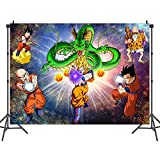 Dragon Ball Backdrop,Dragon Ball Z Birthday Party Banner Background for Photography Children Birthday Party Decoration Supplies(5x3ft)