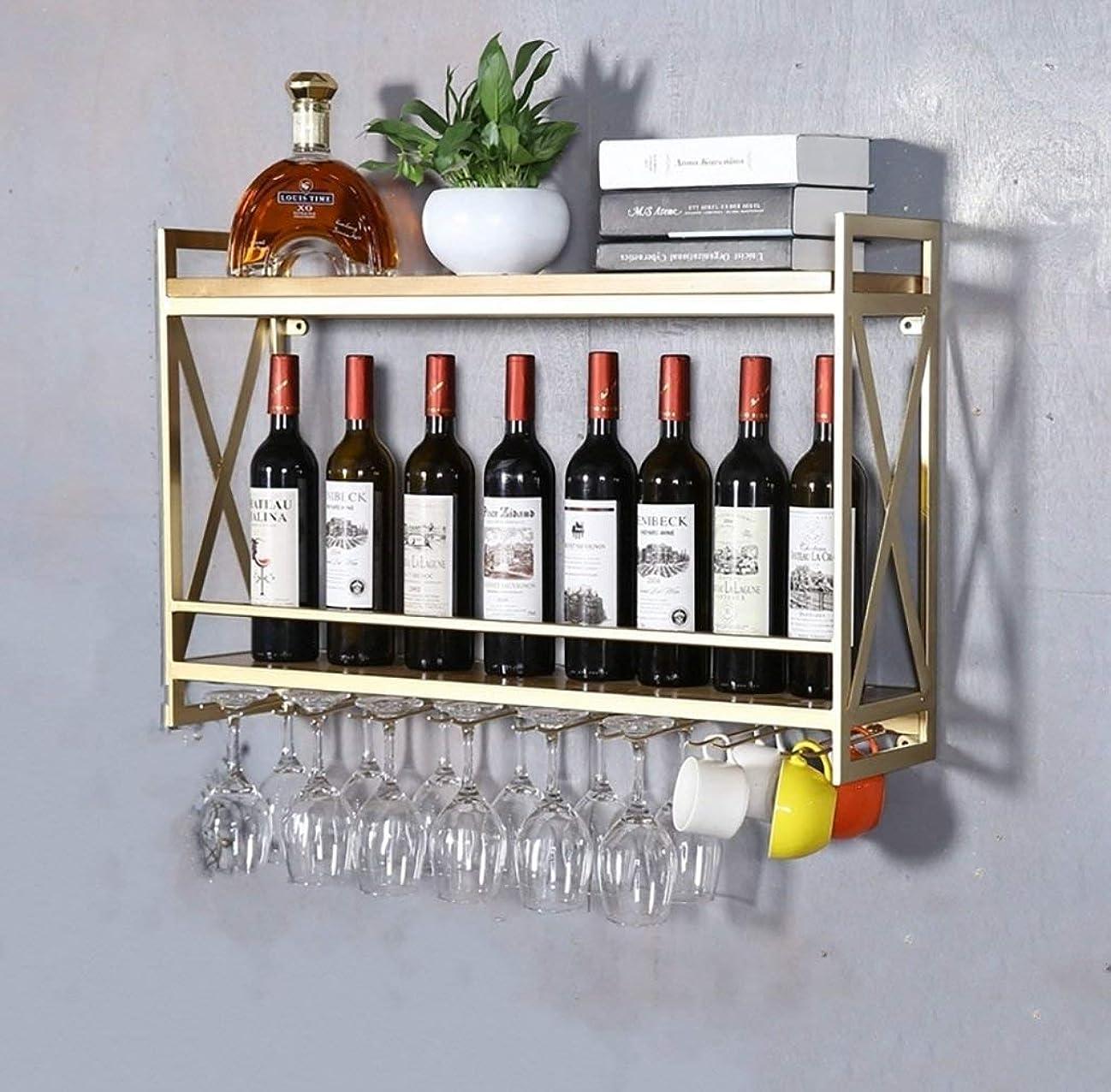 トランザクションアルファベットあらゆる種類のヨーロッパ風錬鉄製ワインセラー壁掛けワインラック創作レストラン装飾装飾無垢材ワインラック家庭用ラック (サイズ さいず : 80x20x52cm)