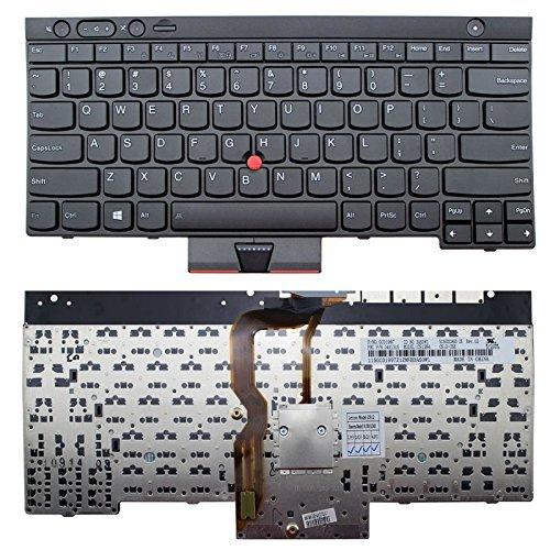 KENAN New Laptop US Keyboard (Without Backlit) for IBM Lenovo Thinkpad T530 T530S T530i W530 X230 X230i X230t T430 T430S T430i L430 L530 04X1315 0C01997 04W2454, US Layout Black Color