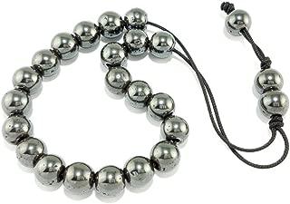 Greek Koboloi Worry Bead Natural Hematite Kompoloi 21 Beads 12mm Collectible