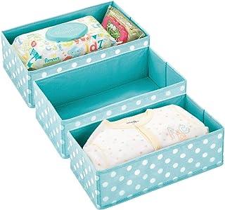 mDesign boîte de Rangement pour Chambre d'Enfants, Salle de Bain, Armoire, etc. (Lot de 3) – Module de Rangement en Fibre ...