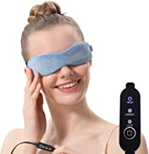 Aroma Season Moist Heated Eye Mask For Stye Blepharitis treatment with Flaxseed, Warm Therapy to Unclog glands, Relieve Dry Eye Syndrome, Stye, MGD and Blepharitis (Blue)