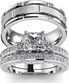 Best set de anillos de matrimonio Reviews