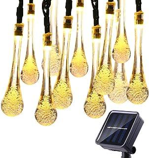 ELEAD Solar Water Drop Fairy String Light 30 LEDs Warm White Outdoor Decorative Starry Lights Solar Power Home Decor Light...