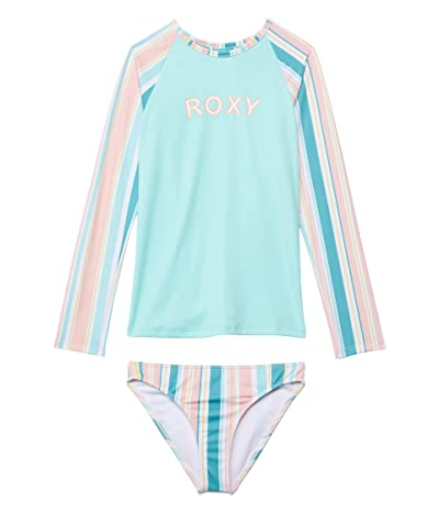Roxy Kids Girls Happiness Long Sleeve Rashguard Set (Toddler/Little Kids/Big Kids)