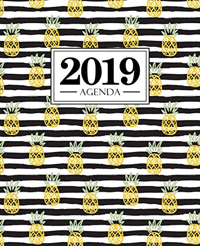 Agenda 2019: 19x23cm: Agenda 2019 semainier français: ananas 5951