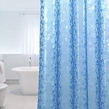 پرده دوش WELTRXE وظیفه سنگین با آهن ربا ، EVA دوش پرده ضد آب برای حمام ، بدون بوی PVC بوش PVC رایگان ، پرده حمام 72x72 اینچ ، 12 قلاب