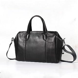 Shoulder Bags Men's Handbag Cross-Section Business Briefcase Leather Casual Men's Bag First Layer Leather Travel Bag 16L Work Package Black Messenger Bag