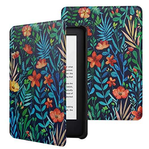 MoKo Case Fits All-New Kindle (10th Generation - 2019 Release Only), Ultra Lightweight Shell Cover with Auto Wake/Sleep, Will Not Fit Kindle Paperwhite 10th Generation 2018 - Jungle Night