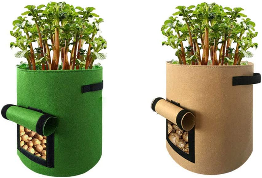 Yamcyh Now free shipping 10 Gallon Plant Grow 67% OFF of fixed price Bags Pack 2 Jardin Pot of Potato See