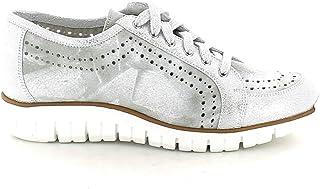 SLIGHT - Sneaker in Laminato Argento Forata