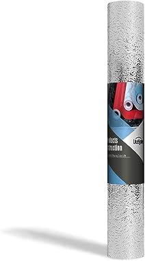 Livelynine Silver Contact Paper for Kitchen Oil Proof Waterproof Sticker Aluminum Foil Kitchen Wallpaper Backsplash Peel and